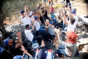 The European Union celebrates olive session with Safi family in Nahalin village near Bethlehem