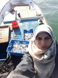 Gaza's only fisherwoman: Madeleine challenges the waves
