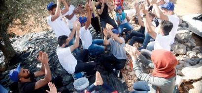 The European Union celebrates olive session with Safi family in Nahalin village near Bethlehem